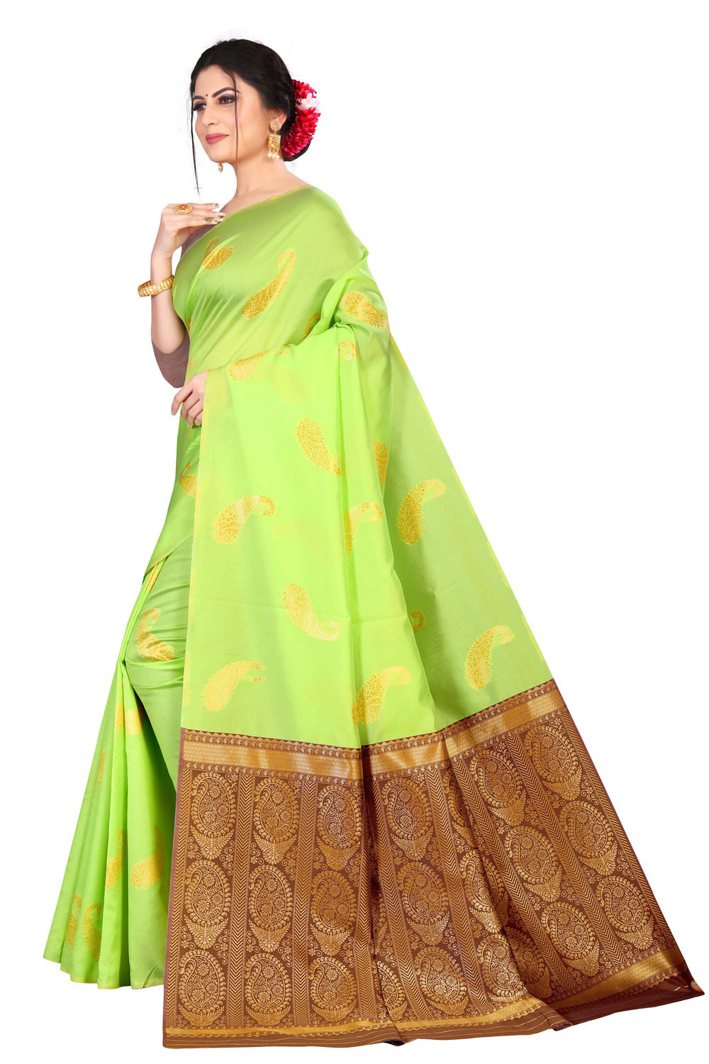 DD 149 Perrot  Colour Silk Saree