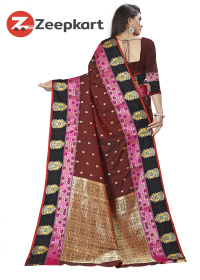 ZK Wine Soft Silk Saree