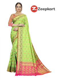 ZK L.Green Soft Silk Saree
