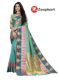 ZK C.Green Soft Silk Saree