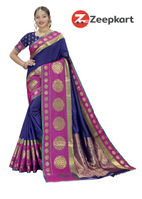 ZK N.Blue Soft Silk Saree