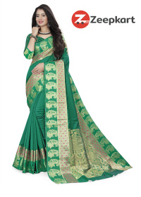 ZK Green Soft Silk Saree
