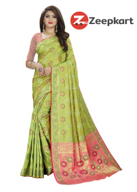 ZK Mehandi Soft Silk Saree