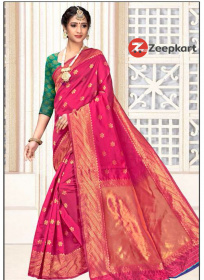 ZK Rani big butta Lichi Silk Saree