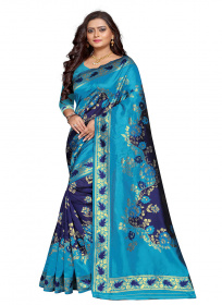 ZK N.Blue Lichi Silk Saree