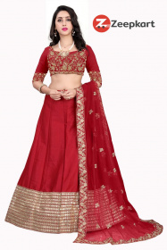 Maroon Colored Party Wear Lehenga Choli With Embroidery Work LC 278