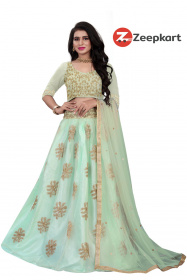 Unique Olive Green Colore Work Party Wear Designer Lehenga Choli LC280
