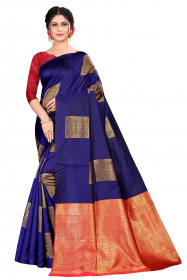 DD 157 N.Blue Colour Silk Saree