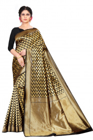 DD 159 Black jikjack Colour Silk Saree
