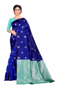 DD 167 ROYALBLUE-FIROJI Soft silk saree