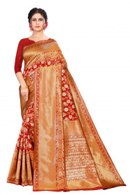 DD 178 Red Silk Saree