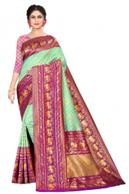 DD 183 Purple Rama Silk Saree