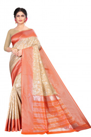DD 188 Chikoo Red Colour Silk Saree