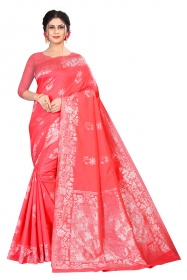 DD 189 Pink Colour with cream butta  exquisite Banarasi Silk saree
