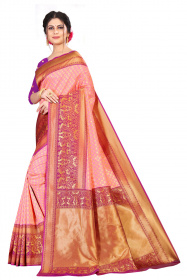 DD 202 PINK AND RED COLOR  Kanchipuram silk saree