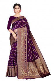 DD 209 Dark Purple Colour Kanchipuram Silk Saree