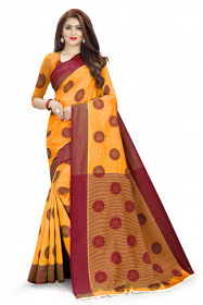 DD1001 Orenge Colour Dyed Kanchivaram Silk Saree