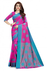DD1005 Dark Pink Colour Dyed Kanchivaram Silk Saree