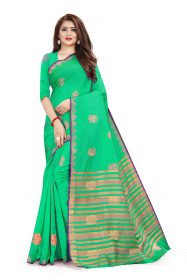 DD1016 Green Colour Dyed Kanchivaram Silk Saree