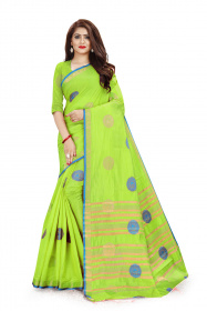 DD1032  Light Green Dyed Colour Kanchipuram Silk Saree