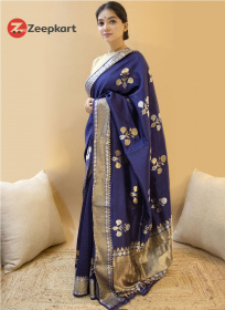 ZK N.Blue Full Colour Soft Silk Saree