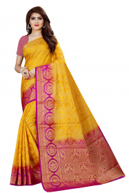 DD2051 Purple Gold Colour Dyed Kanchipuram Silk Saree