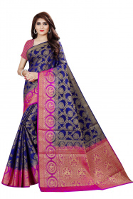 DD2057 N.Blue Purple Colour Dyed Kanchipuram Silk Saree