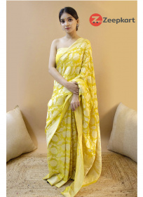 ZK Lemon  Colour Soft Silk Saree