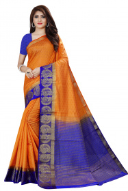 DD4025 Musterd Blue Colour Dyed Kanchipuram Silk Saree