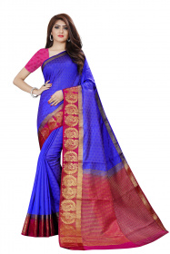 DD4026 Royal Blue Colour Dyed Kanchipuram Silk Saree