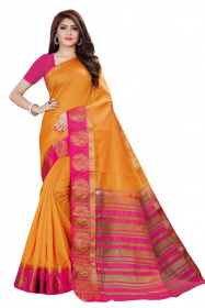 DD4032 Musterd Pink Colour Dyed Kanchipuram Silk Saree