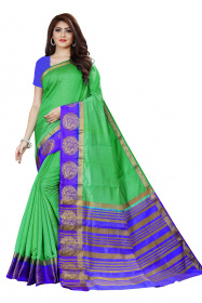 DD4033 Light Green Blue Colour Dyed Kanchipuram Silk Saree