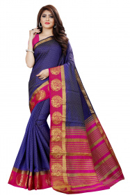 DD4034 Blue Pink Colour Dyed Kanchipuram Silk Saree