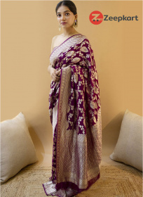 ZK Purple ColourSoft Silk Saree