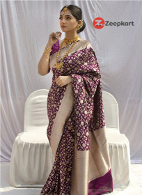 ZK Purple Colour Soft Silk Saree