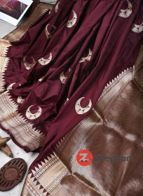ZK maroon chand Colour Soft Silk Saree