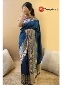 ZK Air Blue Colour Soft Silk Saree