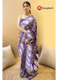 ZK R.Blue Colour Soft Silk Saree