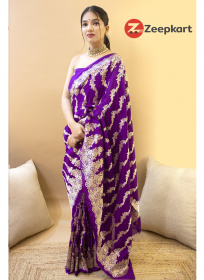 ZK Megenta Colour Soft Silk Saree