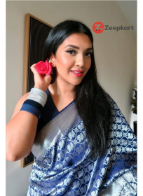 ZK N.Blue Colour Soft Silk Saree