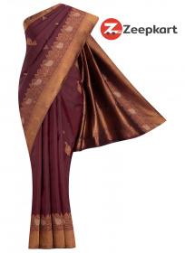 ZK Maroon Colour Soft Silk Saree